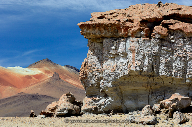 Weird rock formations, altiplano of Bolivia
