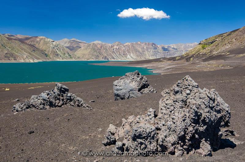 Laguna El Laja, lava landscape near Antuco volcano, Chile