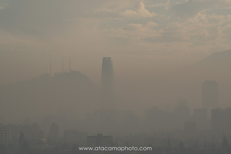 Santiago de Chile in the smog