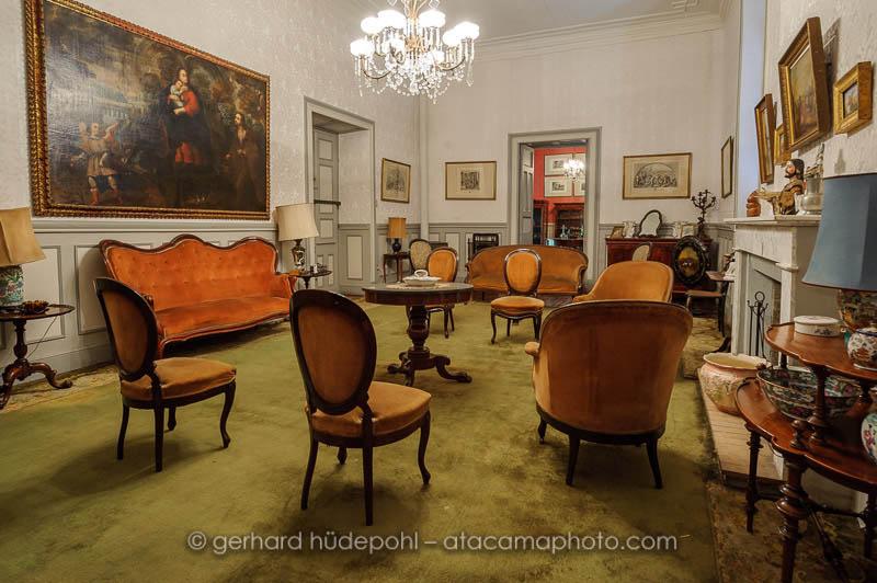 Historic room in the house of geologist Ignacio Domeyko, Santiago de Chile