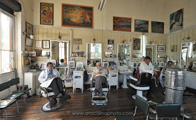 Peluqueria Francesa, historic French hair dresser in the Yungay district of Santiago de Chile