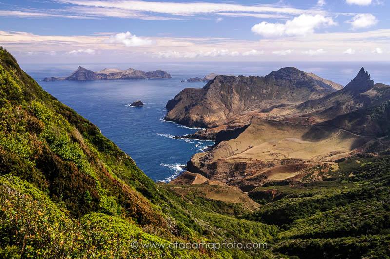 Robinson Crusoe Island and Isla Santa Clara, view from Mirador Selkirk