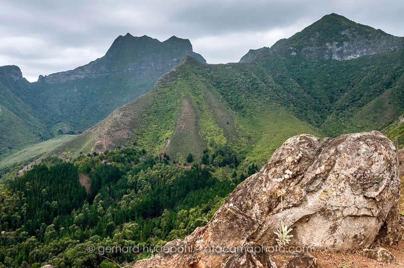 View to Cerro El Yunque from Salsipuedes trail, Robinson Crusoe island