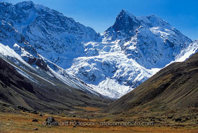 El Morado, high Andes mountains at Cajon del Maipo, Chile