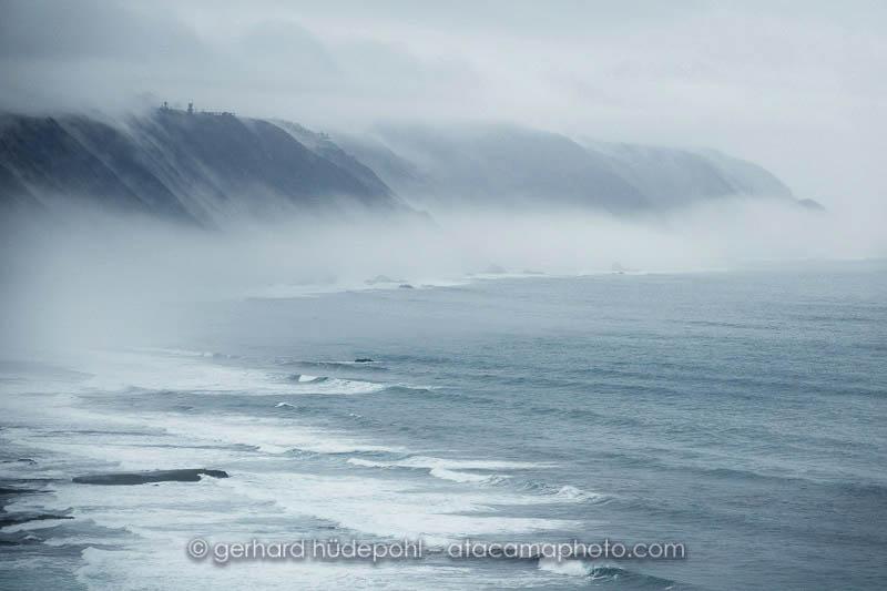 Coastal morning fog after a heavy rain at the coast of Matanzas