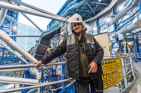 Queen guitarist and astrophysicist Brian May visiting ESO's Paranal Observatory