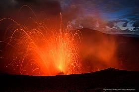 Erupting Mt. Yasur volcano on Tanna Island, Vanuatu