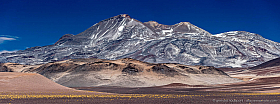 Panorama of Nevado Ojos del Salado, the second highest mountain of America