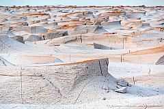 Pumice rock sculptured by wind erosion. Campo de Pedra Pomez, Catamarca Argentina