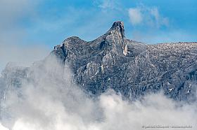 The top of mount Kinabalu, Sabah Borneo