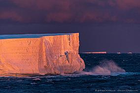 Tabular iceberg in evening light at the Ross Sea, Antarctica