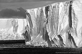 Large tabular iceberg, that broke off the Ross ice shelf, Ross Sea, Antarctica
