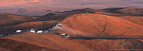 Basecamp of Paranal Observatory with the Residencia Hotel in beautiful evening light