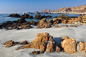 Beautiful wild rocky coast of the Atacama desert in the Antofagasta Region of Chile