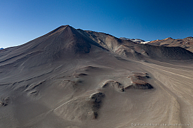 Aerial view of Cerro Plomizo in the Chilean Altiplano
