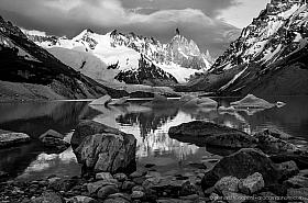 Sunrise at Cerro Torre and Lago Torre, parque nacional los glaciares, Argentina