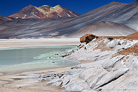 Salar de Aguas Calientes is an amazing mix of colors and geological formations
