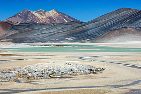 Salar de Aguas Calientes is one of the most beautiful places of the high Atacama planes