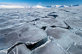 Ice floes are freezing together in winter at McMurdo Sound, Antarctica