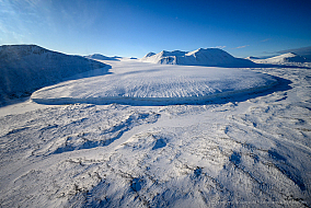 The Commonwealth glacier in the McMurdo Dry Valleys of Antarctica
