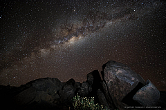 The night sky above the Atacama desert is known to be extremely clear and dark, perfect for star gazing