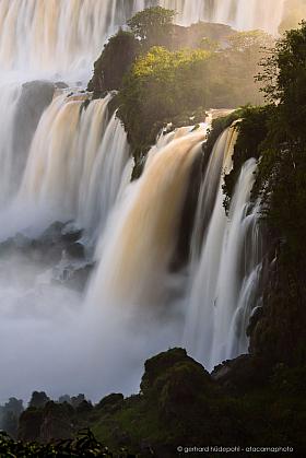 Sunrise at the Iguazu waterfalls, Argentina