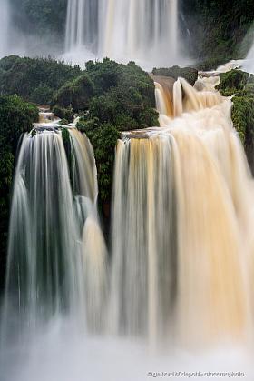Water fall curtains, Cataratas de Iguazu in Argentina