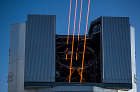 The four laser guide star facility of ESO's Very Large Telescope at Cerro Paranal