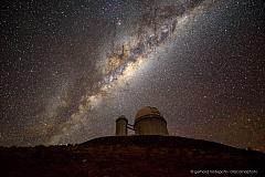 La Silla observatory: the 3.6m Telescope below the Milky Way