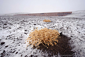 The Paranal Residencia covered in snow, a rare event