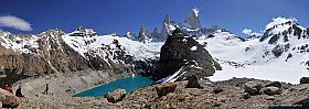 Panorama of the Fitz Roy massif and Laguna Sucia, Los Glaciares Argentina