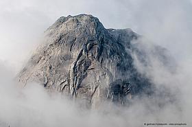 Granite dome of Cerro Trinidad, Valle Cochamo in Patagonia Chile