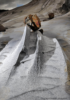Erosion of Limestone caused by constant strong wind and extreme rain, Isla Madre de Dios
