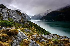 Wild untouched nature of Pia Fjord, Tierra del Fuego Chile